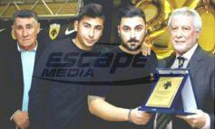 Τιμητική πλακέτα από την ΑΕΚ παρέλαβε η οικογένεια του Παντελή Παντελίδη
