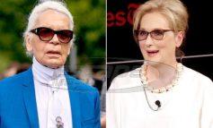 """Κακός χαμός λίγο πριν τα Όσκαρ! """"Πόλεμος"""" ανάμεσα στην Meryl Streep και τον Karl Lagerfeld για μια chanel τουαλέτα"""
