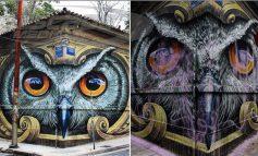 Ποιος βανδάλισε το πανέμορφο γκράφιτι της κουκουβάγιας;