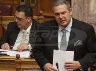 Καμμένος: Θα ρίξω τον Τσίπρα αν φέρει στη Βουλή τη συμφωνία για το Σκοπιανό
