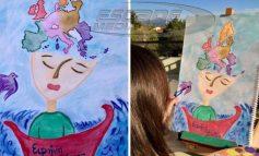 Μαθήτρια ζωγράφισε την Ευρώπη που ονειρεύεται και διακρίθηκε.