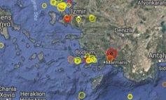 Ισχυρή σεισμική δόνηση 5 Ρίχτερ στην Ν.Δ. Τουρκία - Έγινε αισθητός και στη Ρόδο