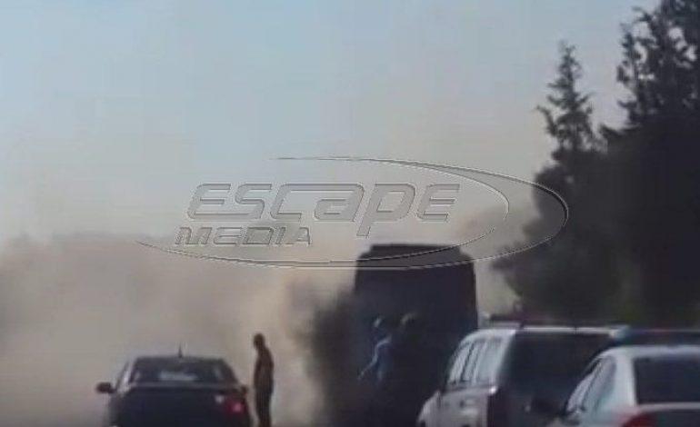 Πανικός στην Κρήτη: Τουριστικό λεωφορείο τυλίχθηκε στις φλόγες