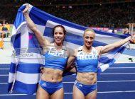 Έγραψαν ιστορία Κυριακοπούλου - Στεφανίδη: Διπλός θρίαμβος για τα κορίτσια του επί κοντώ