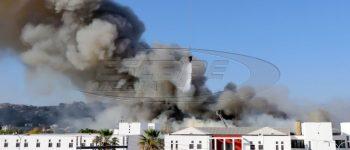 Μεγάλη φωτιά στο Πανεπιστήμιο Κρήτης: Έρευνες για τυχόν εγκλωβισμένους, αποπνικτική η ατμόσφαιρα