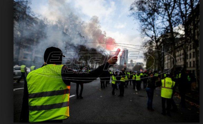 Κίτρινα γιλέκα και στο Λονδίνο κατά της λιτότητας