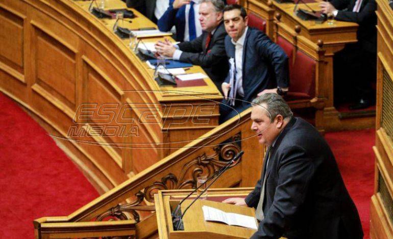 Βγήκαν μαχαίρια μεταξύ Τσίπρα και Καμμένου στη Βουλή