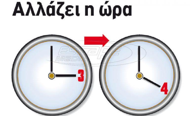 Αλλαγή ώρας: Πότε γυρίζουμε τους δείκτες των ρολογιών