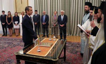 Ορκίστηκε πρωθυπουργός ο Μητσοτάκης - Σε εξέλιξη η τελετή παράδοσης στο Μαξίμου