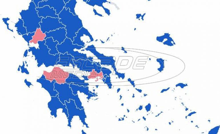 Αποτελέσματα εκλογών 2019: Ο χάρτης της Ελλάδας στο 90,09% της ενσωμάτωσης