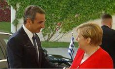 Η πρώτη συνάντηση Μητσοτάκη - Μέρκελ στο Βερολίνο