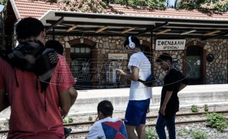 Αποκλεισμένες οι σιδηροδρομικές γραμμές στην Μαλακάσα από μετανάστες