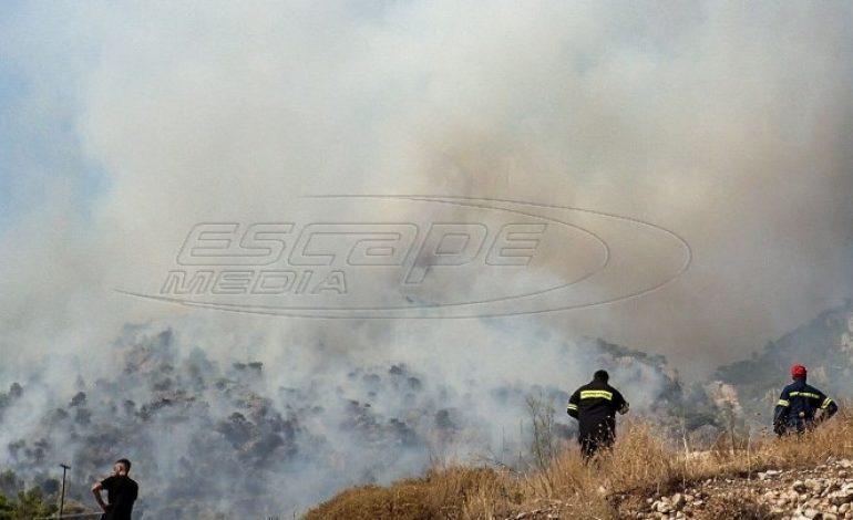 Λουτράκι: Διακοπή κυκλοφορίας λόγω της φωτιάς – Ποιοι δρόμοι κλείνουν