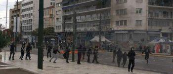 Μαθητικό συλλαλητήριο: Ένταση στο κέντρο της Αθήνας - Μολότοφ, πέτρες και χημικά